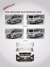 HIGH QUALITY BODY KIT FOR 2008-2014 VELLFIRE 20 UPGRADE 2015 VELLFIRE 30 ,OLD UPGRADE NEW