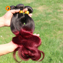 Cheap Brazilian Ombre Body Wave Human Hair Color 1B Burgundy Hair Weave Bundles 1b99j Wine Red Body wave 1piece