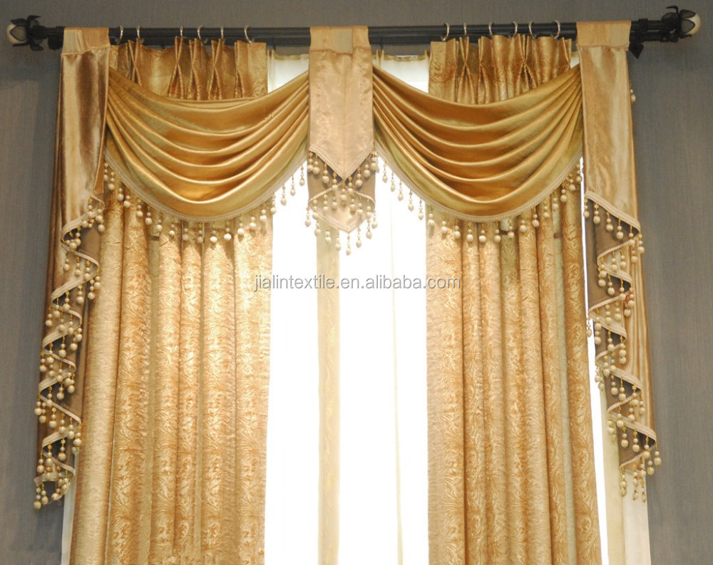 Curtain And Lampshade Cotton Beaded Long Fringe Trim