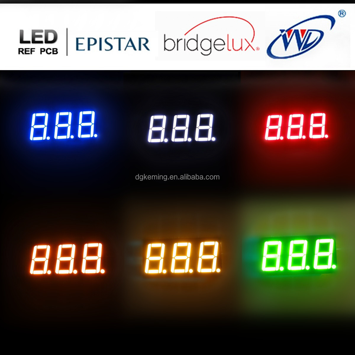 Triple 3 digits led number 0.56 inch 7 segment led display 3 digit red
