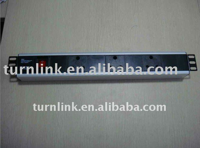 South Africa type 3 way Aluminum shell PDU socket