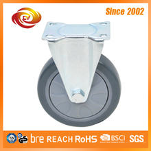 5 Inch Grey PU Fixed Medium Duty Wheel Caster