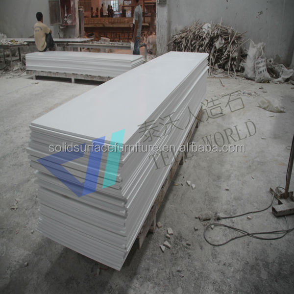 Large Quantity Artificial Stone Acrylic Resin Solid Surface For Countertops