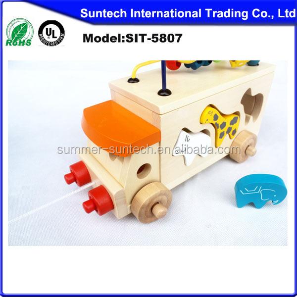Preschool Toys Product : Preschool educational toys wooden animal bus toy buy