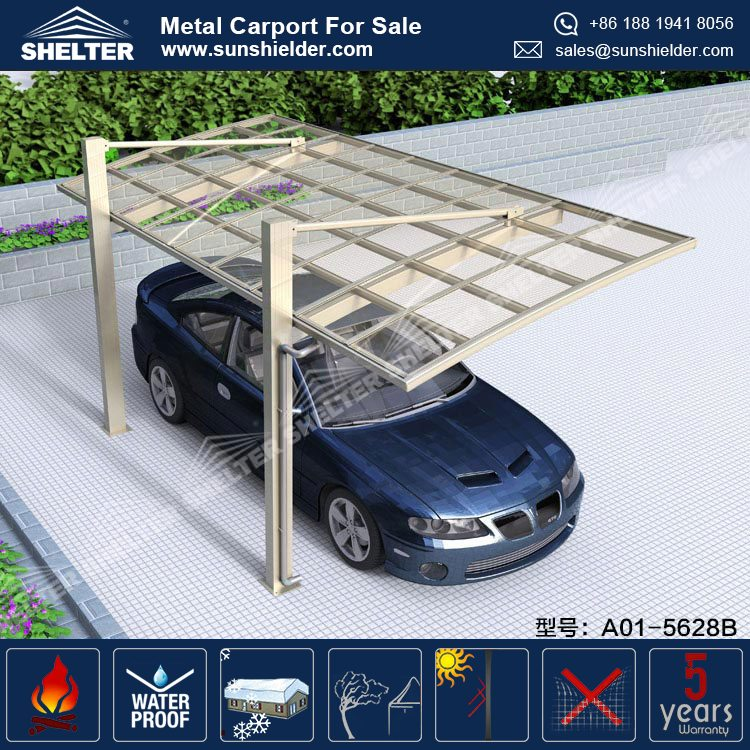India Modern Portable Customized Garage Carport with Cantilever for Single Car