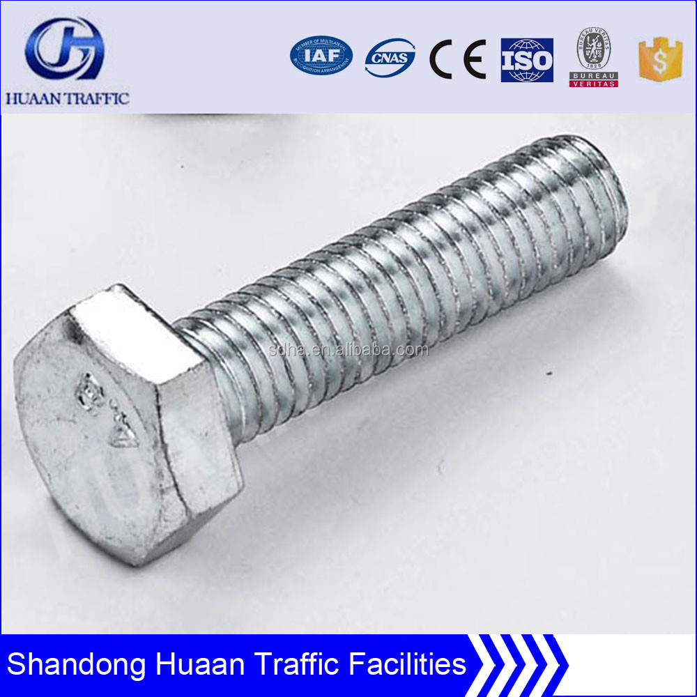 Grade 4.8 to 8.8 carbon steel hot dip galvanized hex bolts and nuts