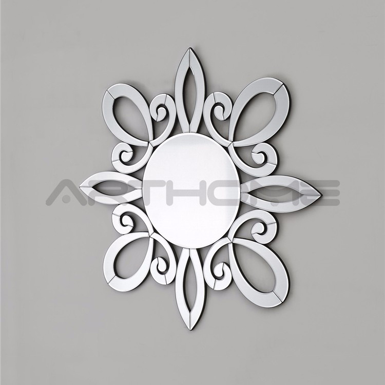 large sun shaped wall mirror home decor