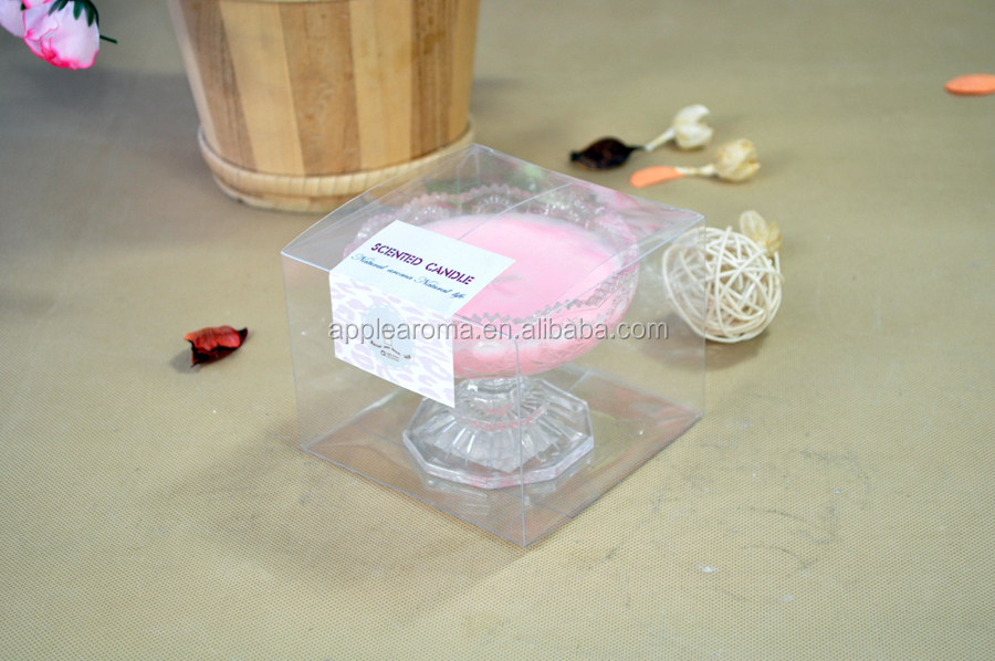 Luxury Glass Cups Soy Wax Scented Candle For Wedding Decoration