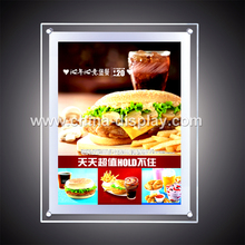High brightness crystal acrylic led menu board kfc disiplay
