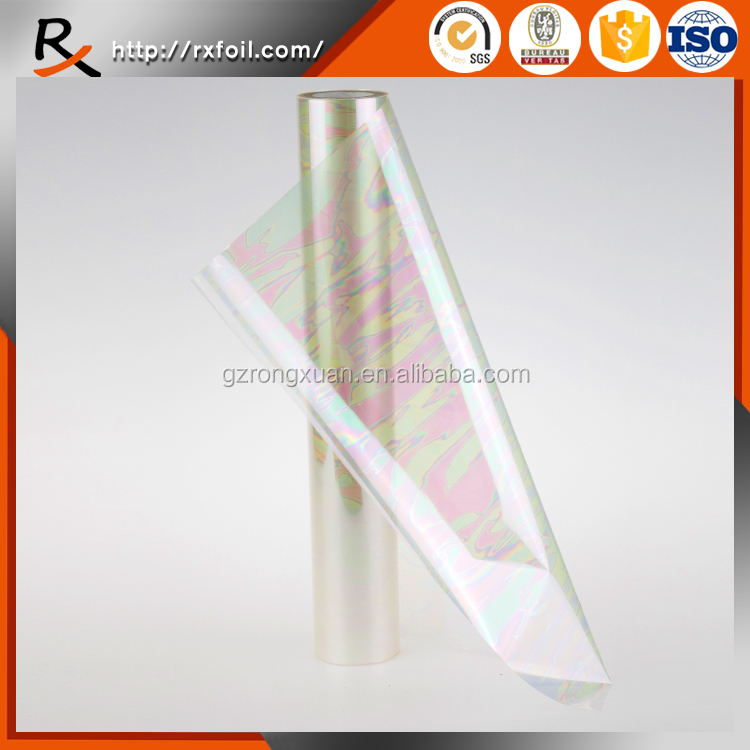 7008# transparent iridescence color hot stamping foil for textile