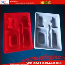 High quality flocking pvc blister packaging inner tray and boxes for electronics product