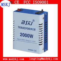 Top quality home use STO type step up and down transformer