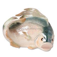 High quality ceramic fish cookie jar