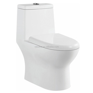 High quality gravity flushing siphonic one piece toilet