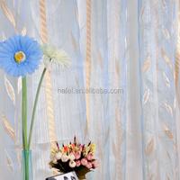 modern leaf design jacquard sheer curtain window panel