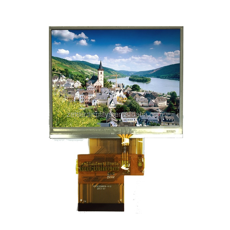 3.5'' QVGA 320 *240 solution LCD Serial display with full viewing angle and resistive touch panel