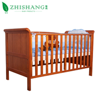 High Quality Cheapest Solid Wooden Baby Bed / Crib For New Born Baby