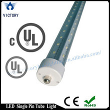 promotional sale ul 8ft 2.4m 6500k v-shape double sided 270 beam angle 44w single pin led tube led cooler light