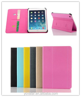 New design case for ipad air, tri-fold wallet stand PU leather cover ,well protective soft TPU inner