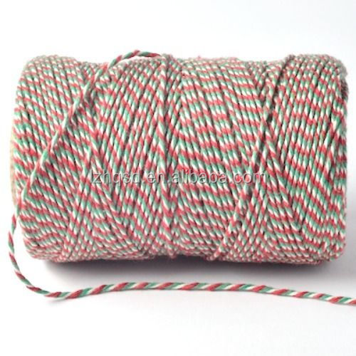 Christmas Bakers Twine Red White Green Candy Stripe Gift Wrap String