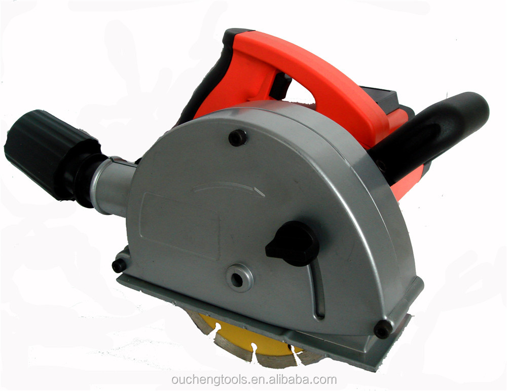 Electric Power Tools 1700w Brick Concrete Wall Chaser/Cutter/Notcher 150mm two balde working