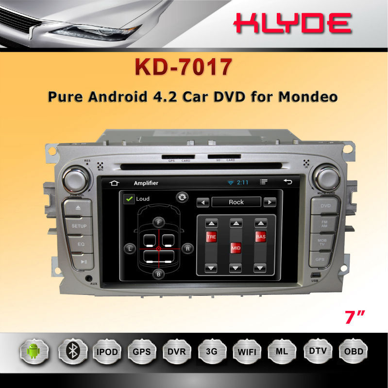 7'' HD Touch Screen double din car dvd for With Bluetooth & Radio FOR MONDEO