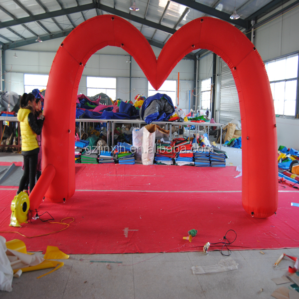 Freestanding Inflatable Arch Red Heart Shaped Archway Inflatable wedding arch