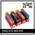 refill ink cartridge for hp 5525 6525 printer for hp ink cartridge for 670