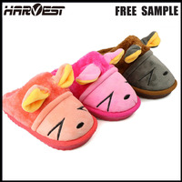Cute traditional chinese custom slides childrens bedroom slipper , soft plush santi slip indoor sale cotton slippers wholesale