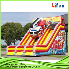 PVC tarpaulin water park inflatable slide