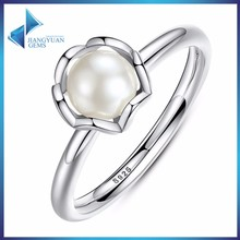 latest jewelry design 925 sterling silver pearl ring