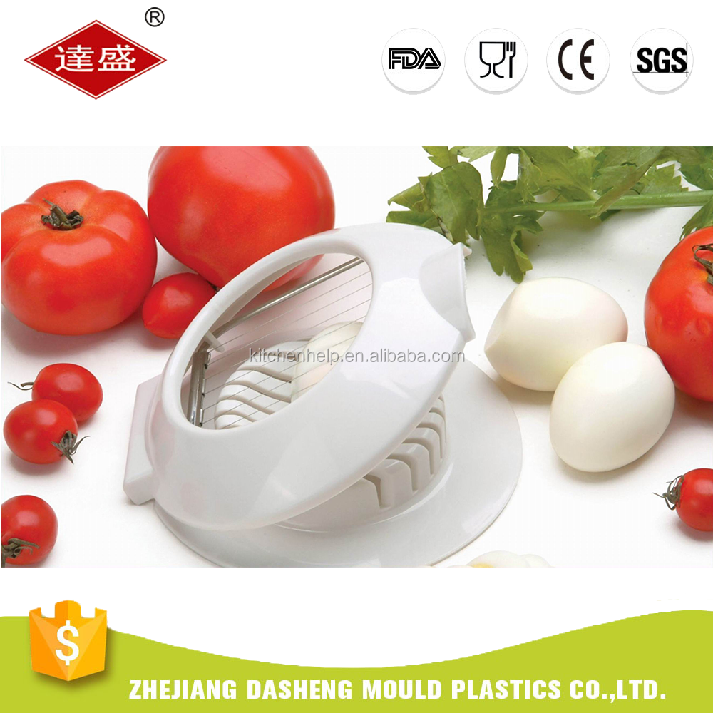 Plastic And Stainless Steel Kitchen Boiled Egg Slicer