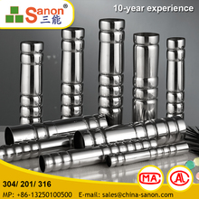 High Quality Aisi 304 / 316 Stainless Steel Hollow Pipes / Tube For Construction