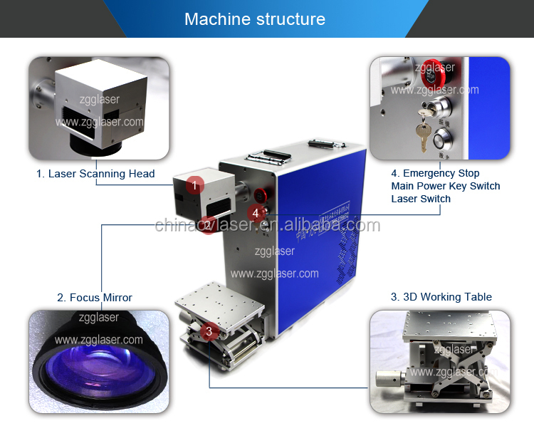 New Condition and Air Cooling Cooling Mode laser marking machine system