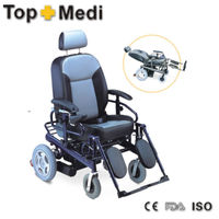 TOPMEDI hot sale aluminum vehicle seat reclining high back electric wheelchair