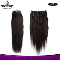 Best quality virgin unprocessed no mix synthetic cheap kinky curly clip in hair extension
