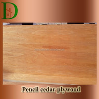 Plywood panel type and wood material high quality pencil cedar plywood