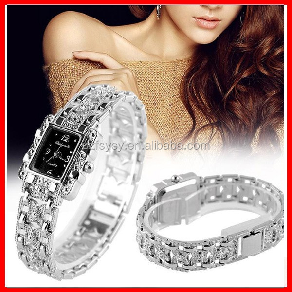 2016 Most Delicate Crystal Bracelet Women Watch Factory Direct Selling