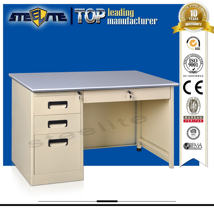 Most Selling Products With Side Drawers and Lock Metal Frame Office Desk