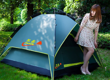 Outdoor 6-8people totally automatic tent ultra light anti-sun Uv Protect skylight family big tent