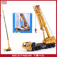 Diecast metal engineering truck crane model