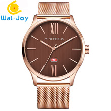 WJ-6565 Simple Classic Design Charming Quartz Stainless Steel Waterproof Businessmen Watch
