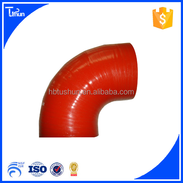 High temperature flexile 90 degree silicone eblow hose ISO9001-2008