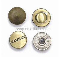Metal Snap Rivet With Custom Logo