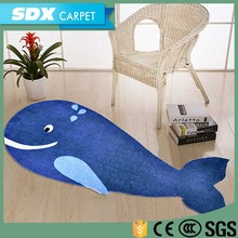 Cartoon Design Polyester Decorative Carpets With Custom Printing