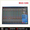 MAX-1200 Professional 8 Channel Sound Power Amplifier Mixer