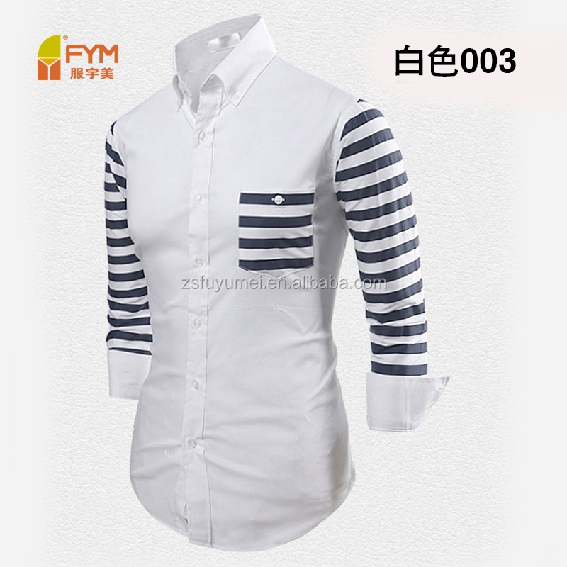 stripe button down design for Autumn dress men's casual shirts