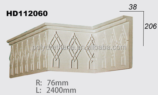 High quality polyurethane moulding HD112060 wall ceiling decoration cornice