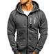 Custom High Quality Men's Fleece Zipper-Up Hoodies Sweatshirts