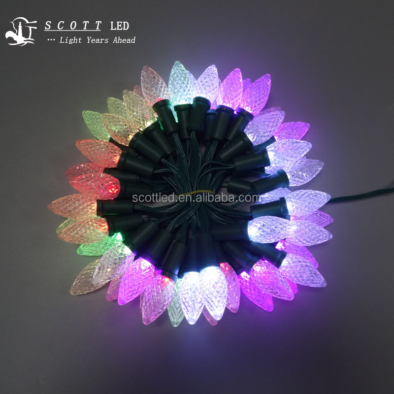 G40 WS2811 SMD5050 F8 dream color milky white waterproof 50pcs per string christmas led lights